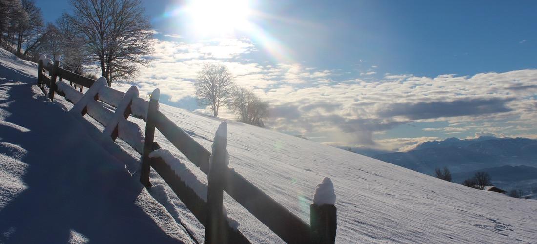 Mölten in Südtirol im Winter
